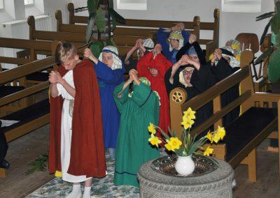 Påskespil i kirken
